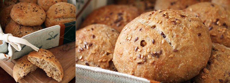 Disegno cucinare i semi di lino photographs : Panini semi-integrali al latte di soia e semi di lino - Molino ...