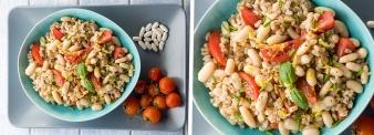 Insalata di farro con pomodorini e fagioli