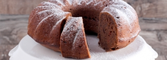 Chocolate cake with common wheat flour type 1