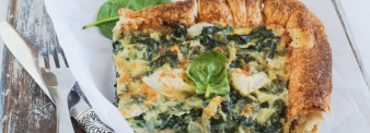 Quiche spinaci e mozzarella senza glutine