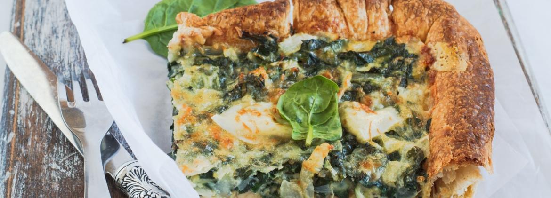 Quiche spinacci e mozzarella senza glutine