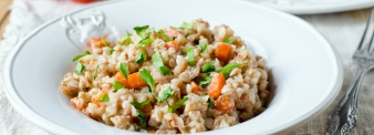 Buckwheat salad with vegetables