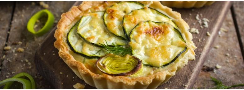 Torta salata di zucchine e parmigiano