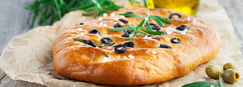 Focaccia integrale alle olive