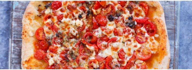 Pizza con farina W330 ad alta idratazione