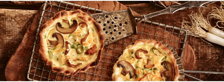 Mushrooms' quiche