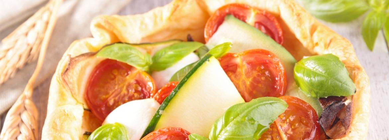 Summer vegetables' quiche