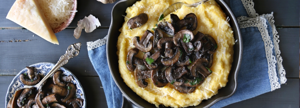Mushrooms' flavour polenta