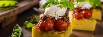 Tortino di polenta con cuore morbido