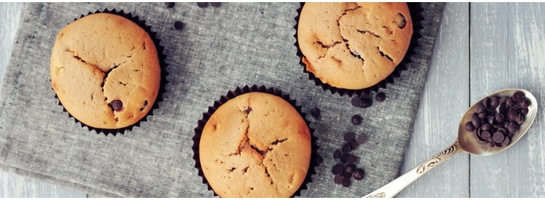 Muffins with chocolate drops