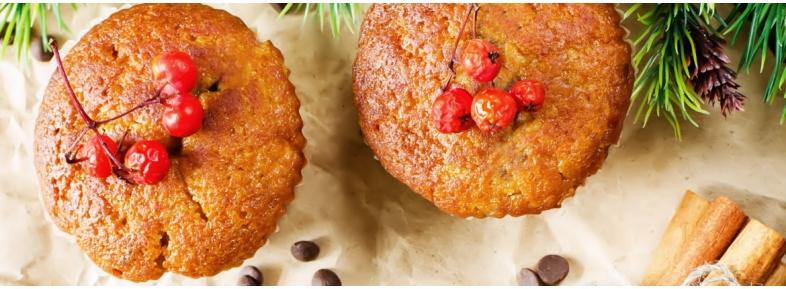 Muffin speziati alle carote