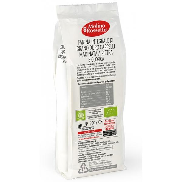 ... Farina BIOLOGICA integrale di grano duro Cappelli macinata a pietra -  500g ... bd326a6e3d24