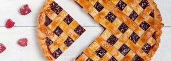 Crostata con farina di farro e confettura di lamponi