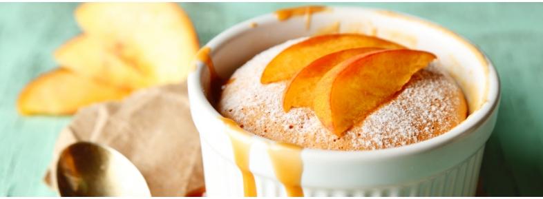 Muffin con farina di farro e pere
