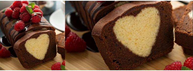 Plumcake dolce sorpresa del cuore