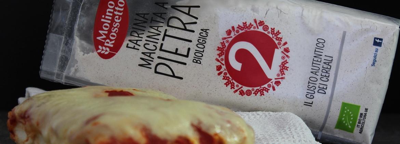 Pizza in teglia con farina macinata a pietra tipo 2