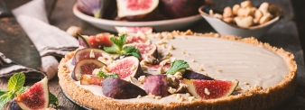 Pir with Figs and frangipane cream