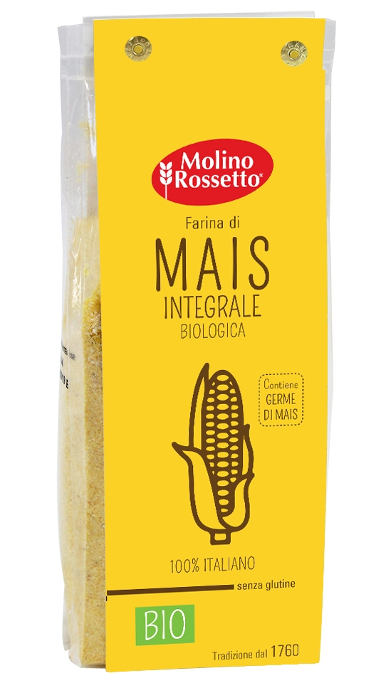 Organic Whole Maize Flour 100% italian maize - gluten free - 17,64 (500 G) -
