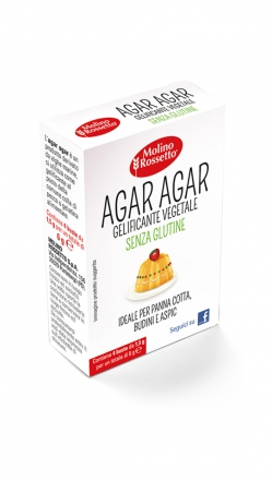 Agar agar senza glutine - 4 buste per 1,5g cad -