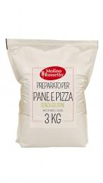 PREPARATO PER PANE E PIZZA - SENZA GLUTINE - 3 KG -