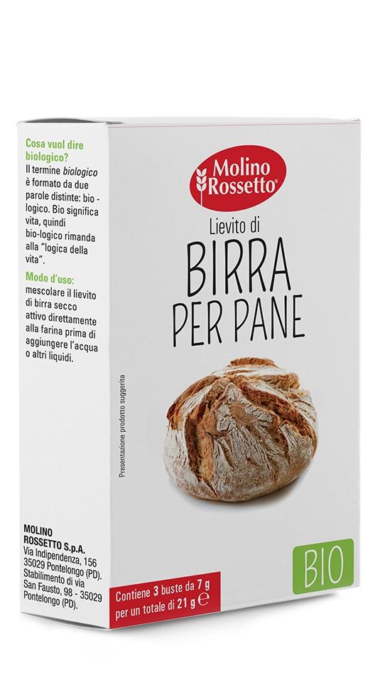 LIEVITO DI BIRRA PER PANE - BIO - 3 BUSTE PER 7 G -