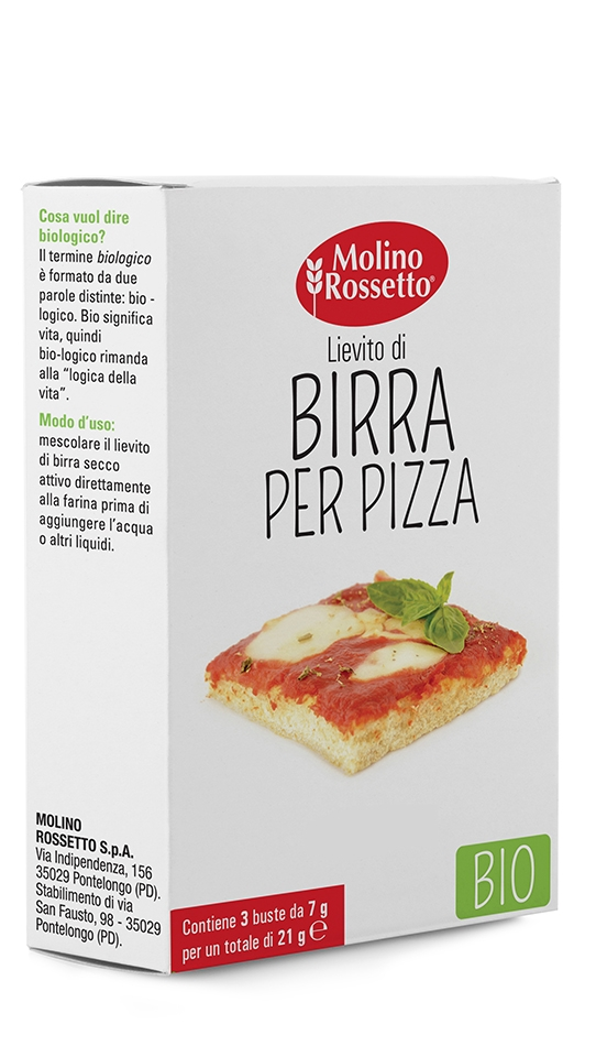 ORGANIC BREWERY'S YEAST FOR PIZZA 3 BAGS X 7 G
