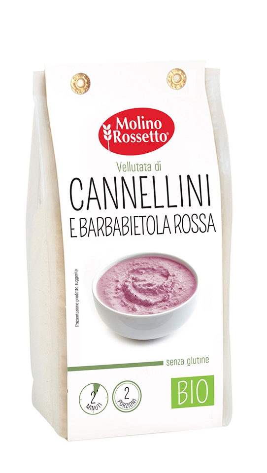 ORGANIC GLUTEN-FREE SOUP WITH CANNELLINI BEANS AND RED BEETS 80 G MR
