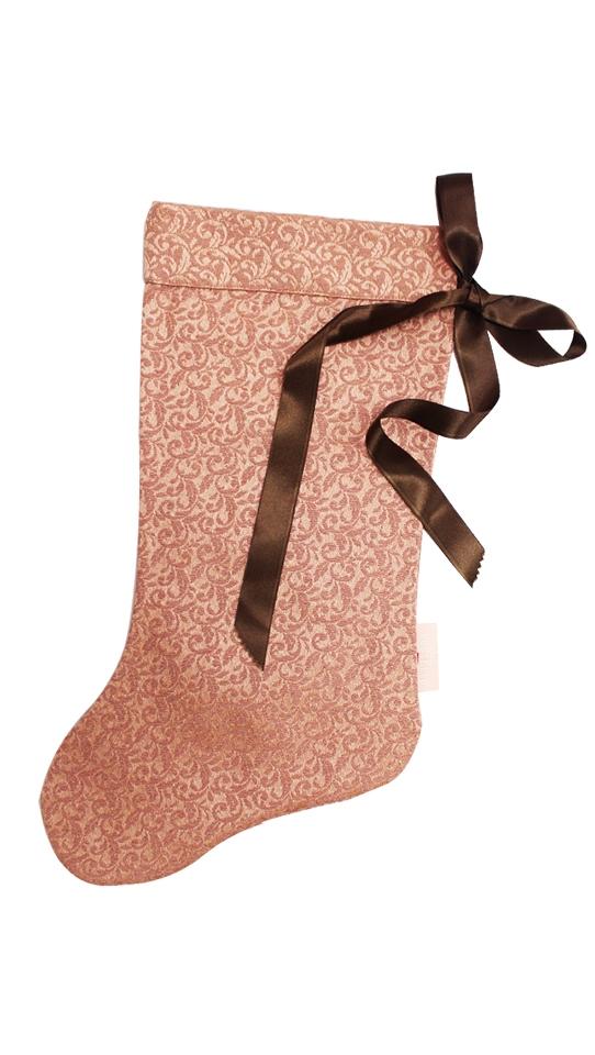 Calza della befana rosa nastro raso GRANDE
