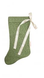 Calza della befana verde nastro raso GRANDE