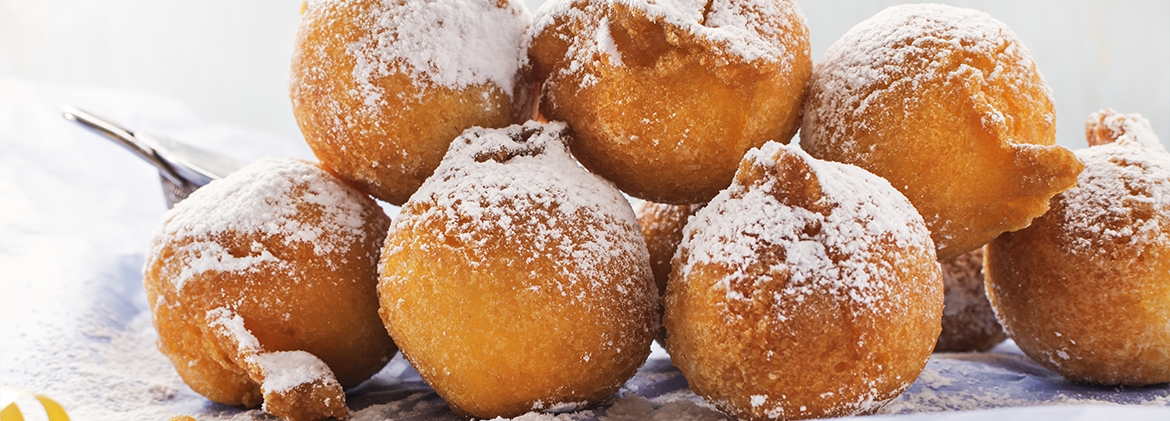 Frittelle with cream