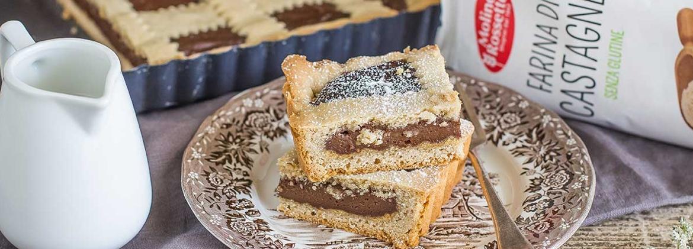 Chocolate and chestnut pie