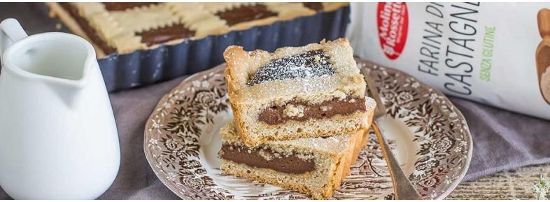 Crostata di cioccolato e castagne