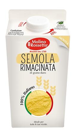158 - SEMOLA RIMACINATA DI GRANO DURO 100% ITALIANO - VPACK - 750 G -