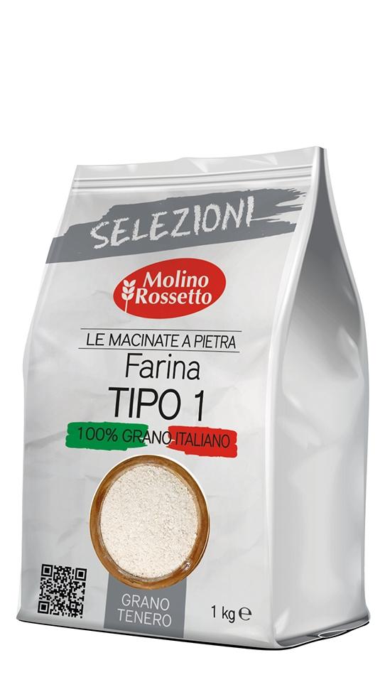 Farina di grano tenero TIPO 1 macinata a pietra - 1kg