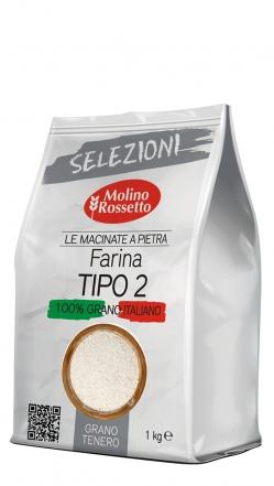 Farina di grano tenero TIPO 2 macinata a pietra - 1kg