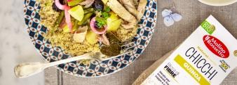 Insalata di quinoa con sgombri