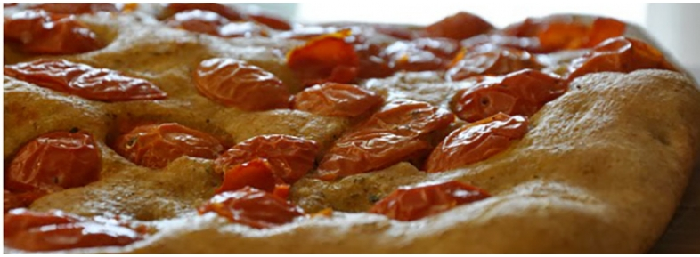 Burnt wheat flour's flat bread