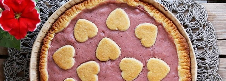 Crostata con crema alle fragole