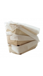 4 WOODEN MOULDS FOR BREAD AND CAKES 18x11,5x6 CM