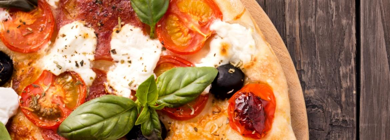 Pizza con farina di soia